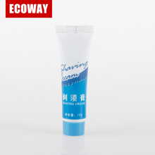 high quality plastic shaving cream tube 10g Empty Mens Hotel Shaving Cream Tube