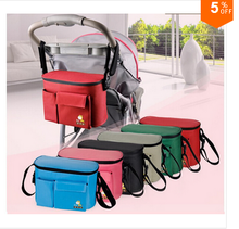 Car Seat Attachable Baby Stroller Organizer,Mummy Diaper Nappy Tote Bags, Infant Pushchair Travel Storage Bag