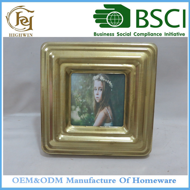 Metal Latest Design Of Picture Photo Frame In Golden Color