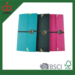 A5 PU Cover Material and Printed Style paper school notebook
