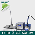 YIHUA 939D+ soldering iron station with LED Magnifier Lamp with small electronic board Fixture