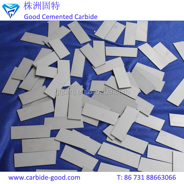 YG6/yg8/yg15 tungsten carbide plate brazed strip tips of trapezoid shape