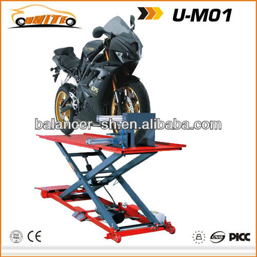 Hydraulic motorcycle lift of U-M01