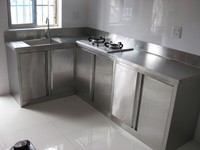 Modular Custom Stainless Steel Kitchen Cabinets