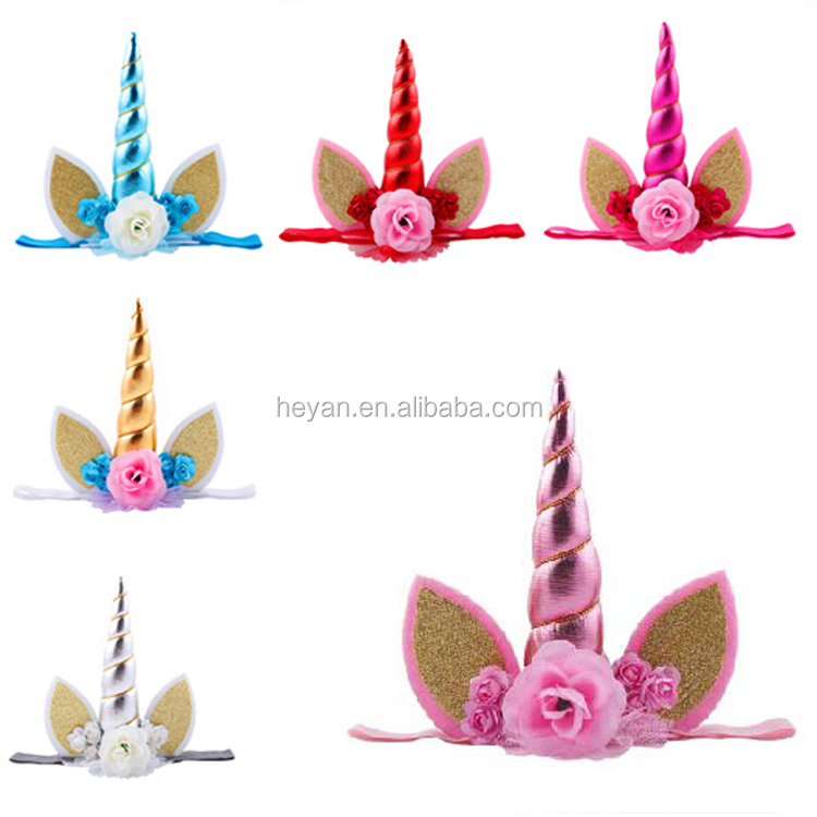 Fashion baby kids party unicorn headbands