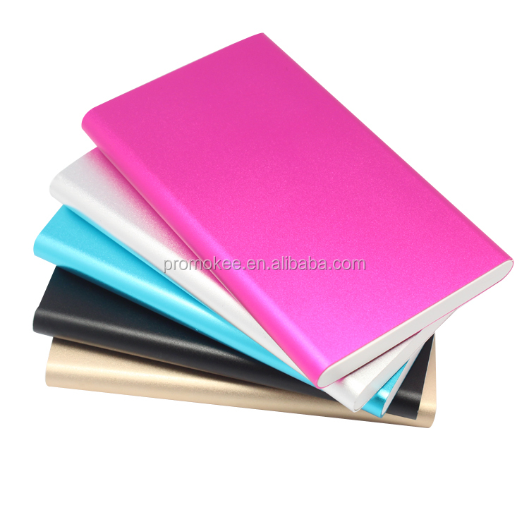 Wholesale metal portable new power bank for mobile phone 5000 mAh