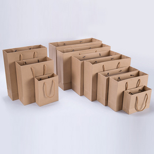 Fashion White/Black/Brown Kraft Paper Bags With Twisted Handles