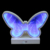 led blue  tunnel light butterfly for table decoration for Christmas