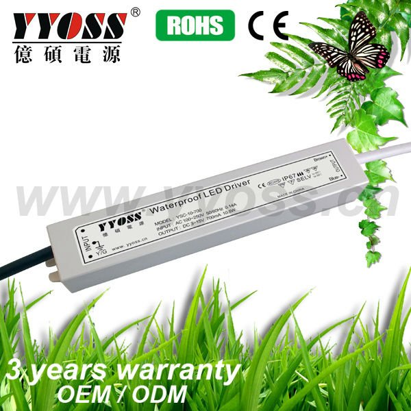 IP67 new 10W LED Waterproof powersupply,led transformer,LED driver