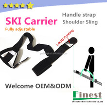 Fully adjusable Custom Skis Sling Carrying Strap for Snowboard