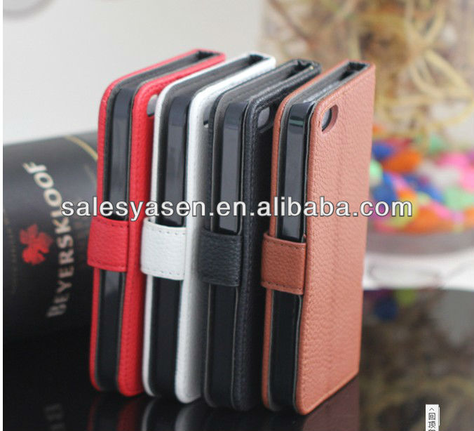 stylish luxury skin flip pu leather cover case for iphone 5