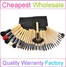 32 PCS Best Professional Make Up Brushes Wholesale with Free Sample and Small Quantity Order Acceptable to Test Market