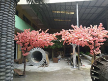 Fashion cheap High similation PInk Cherry Blossom Artificial tree no leaves for Sale