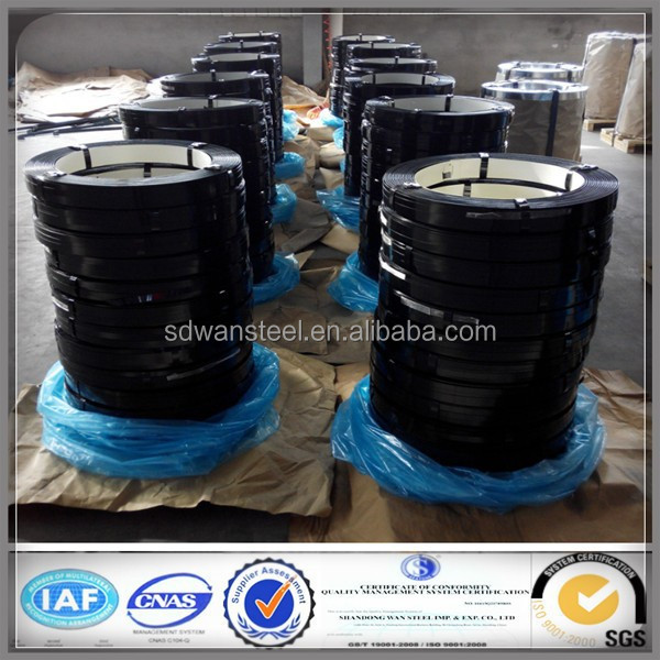 Q235 ,Q345,Q195,B235 Black Painted Steel Strapping/Strip/Band/Belt/Packing Straps