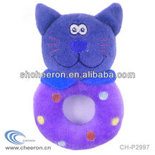 2013 Baby toy plush cat rattle