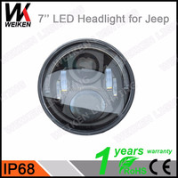 wholesale super bright hot sale 7 inch round jeep wrangler led light and motorcycle led headlight