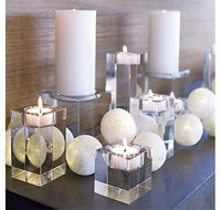 Crystal Block Candle Holder MH-1774