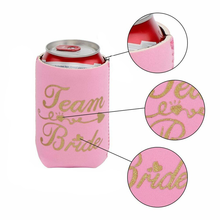 Custom Personalized Wedding Collapsible Neoprene Can Coolers