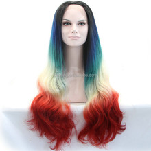 3 colors synthetic u part wig