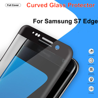 New Arrival!!!! 9H Hardness Black Color Full Body Anti-shatter Screen Protector Tempered Glass for Samsung S7 Edge