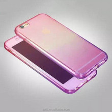"Luxury 360 Degree Full Protect shell for iPhone 6/6S 6/6sPlus 4.7""+5.5'' Gradient color Crystal TPU Phone Case Front+Back 2 in 1"