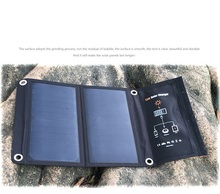 15W Outdoor Folding Protable Solar Panel 5V Sunpower Solar Power Bank iphone Charger