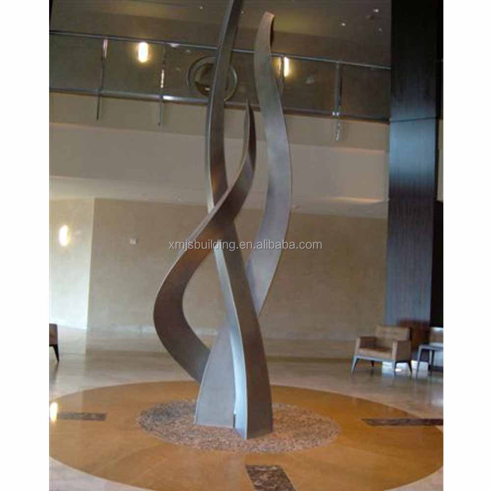 Public Art Project Urban Landmark Stainless Steel Abstract Sculpture Metal Hotel Decoration