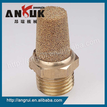 Wholesale male threaded brass air compressor muffler, exhaust pipe muffler