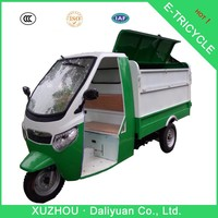 1550W garbage trash cleaning electric tricycle with stainless carriage