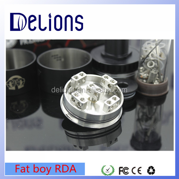 2016 Delions newest mechanical RDA Rebuildable Alliance Fat Boy RDA 46mm Diameter with fast shipping