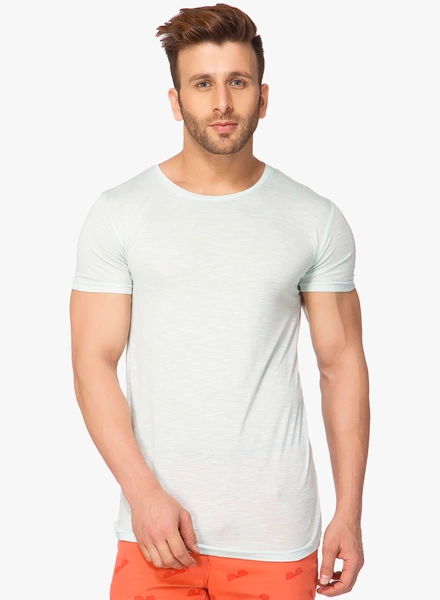 light blue textured round neck blank slim fit wholesale men t-shirt garment factory in bangladesh