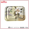 Mail order rect full print colorful food trays, matte fruit tea/lunch dinner tray/ melamine plastic serving tray