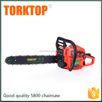 Chinese supply gasoline cheap chainsaw 5800 58cc chain saw with CE