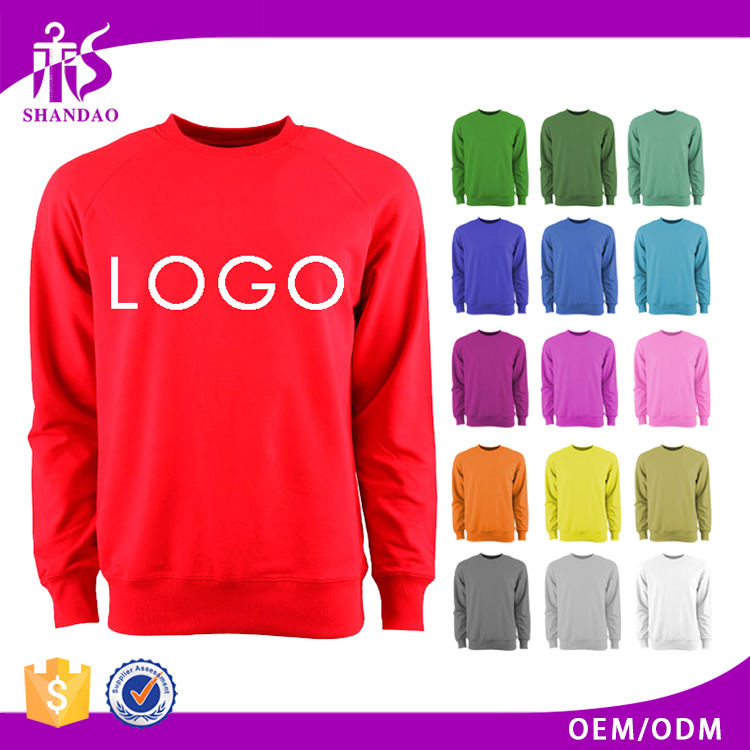 2017 Guangzhou Shandao OEM Custom Spring 100% Cotton Long Sleeve Custom Logo Plain Dyed Pullover Jersey Hoody For Men
