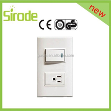 SASO CE IS09001 American standard 1G 20A socket pc glass touch wall socket