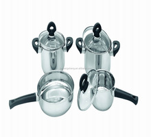 7pcs set stainless steel inkor cookware/prima cookware/mayer house cookware for bakelite handles