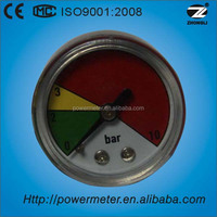 40mm plastic abs case colored 10 bar mud pump pressure gauge