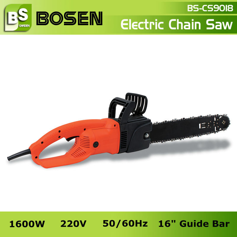 "1600W Electric Power Saw with 16"" Guide Bar"