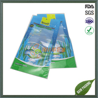 three side seal fish food package poly plastic bags
