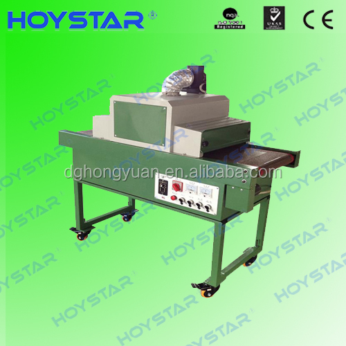 UV paint tunnel dryer for screen printing