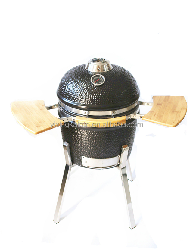 "Outdoor charcoal kamado egg BBQ,15"" bbq ceramic egg smoker, big barbecue kamado"