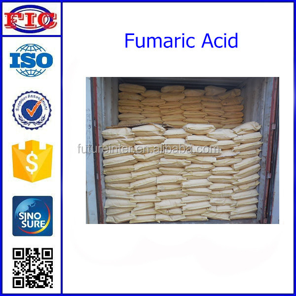 Food additives fumaric acid packed in 25kg bag