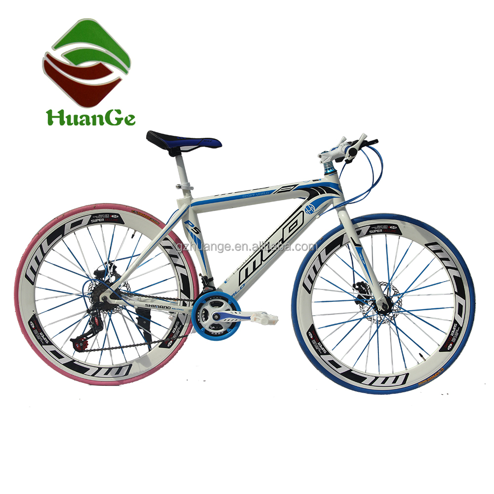 700C 60mm 21 speed muscle frame road bike city racing bicycle with double disc brake