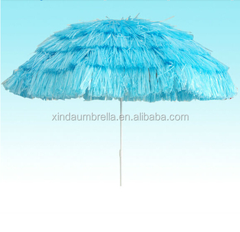 220cm big promotional umbrella straw beach umbrella