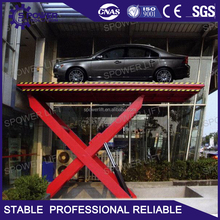 Low price fixed used hydraulic home garage car lift for convenience