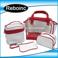 Transparent cosmetic bag pvc/Clear Travel Size Toiletry bag Bottles Carry On pvc clear bag /portable toilet bag