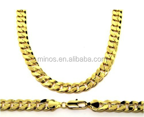 18k PVD Gold Plated Stainless Steel Luxury Curb Chain Necklace
