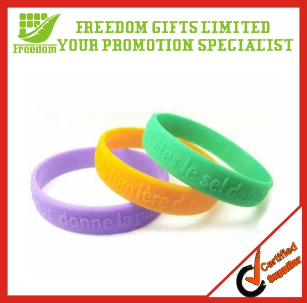 Promotional Give Away Logo Printed Customized Silicone Wristband