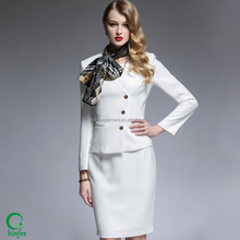 Ladies Suits Designs Winter Fancy White Suit Guangzhou