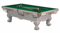 Carved home pool billiard for entertainment